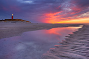 Texel lighthouse sunset